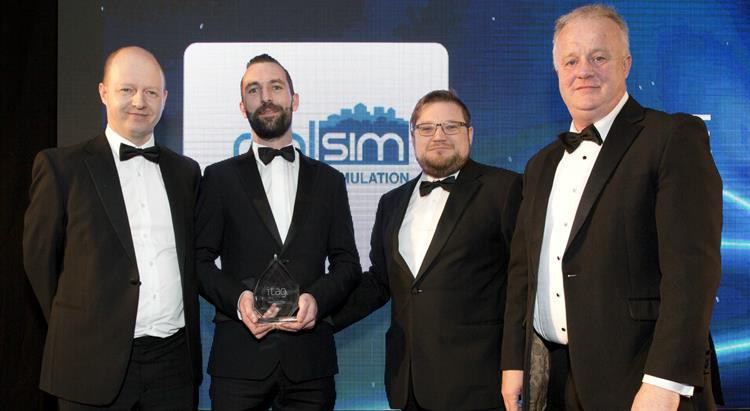 The RealSim team receive the award