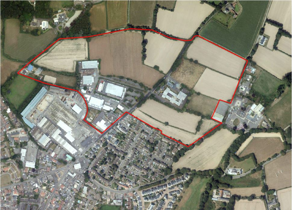 Fields at Five Oaks site outline