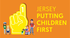 Logo saying Putting Children First