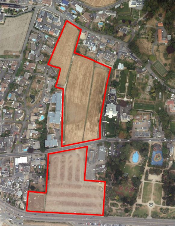 Millbrook playing fields site outline