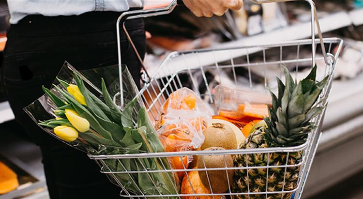 Photo of shopping basket full of food