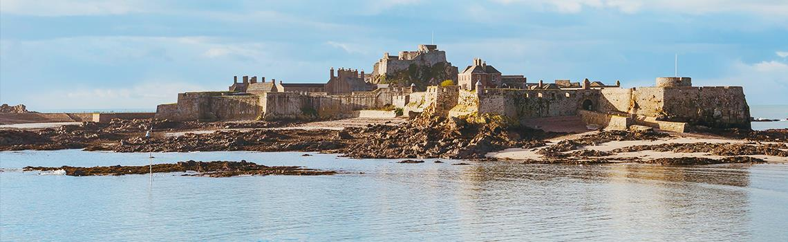 Photo of Elizabeth Castle Jersey at high tide