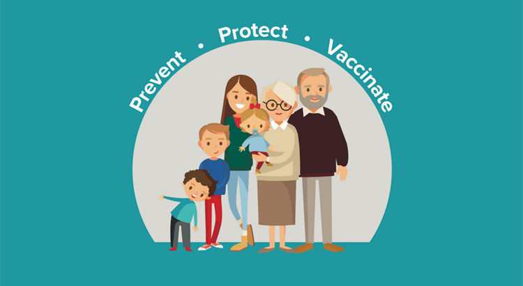 Logo saying Prevent, Protect, Vaccinate