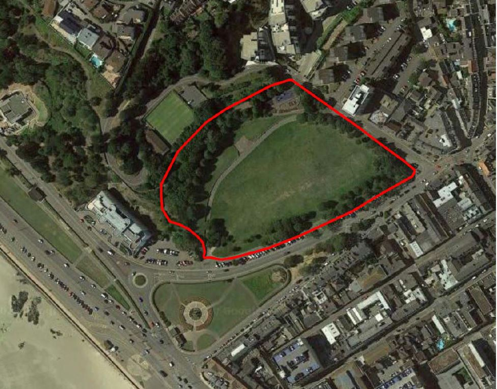 The Peoples Park site outline