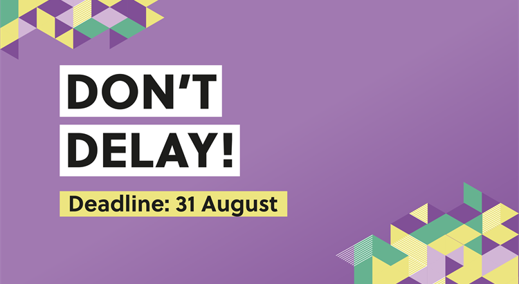 Tax deadline is 31 May