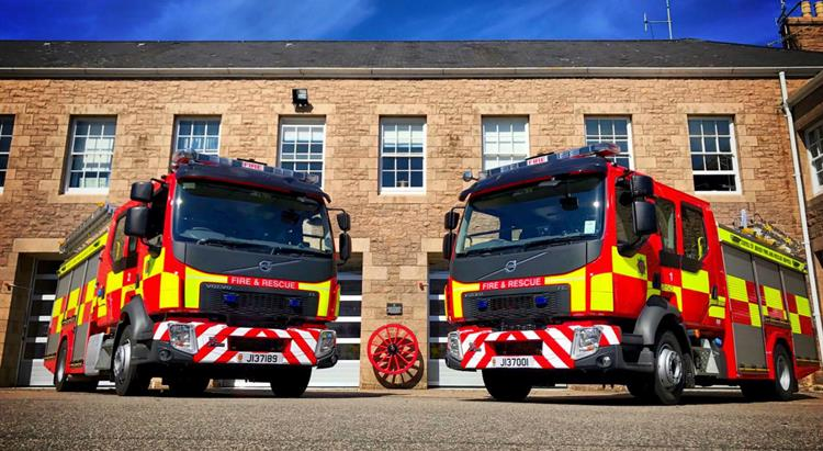 Two fire appliances outside Fire Station