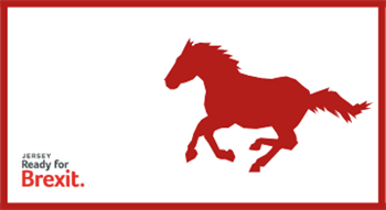 Jersey Ready for Brexit: Horse passports logo