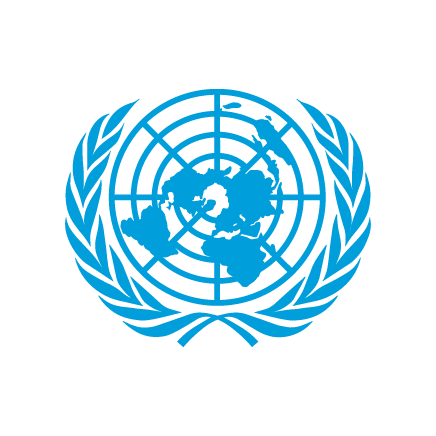 Rounded version of the United Nations logo